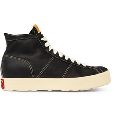 visvim Foley Folk Full-Grain Leather High-Top Sneakers