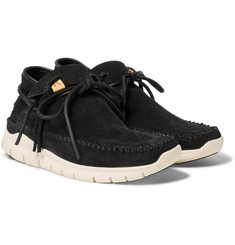 visvim UTE Moc Trainer-Folk Suede and Mesh Sneakers
