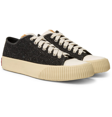 visvim Skagway Leather-Trimmed Wool-Tweed Sneakers buy cheap wiki with mastercard cheap online free shipping geniue stockist outlet low shipping Sbivw4lG