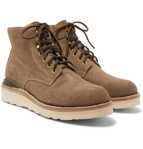 Visvim Virgil Suede Boots - Tan