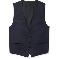 Hugo Boss - Blue Wilson Slim-Fit Super 120s Virgin Wool Waistcoat