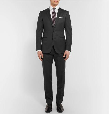 Hugo Boss Grey Hayes Slim Fit Super 120s Virgin Wool Suit