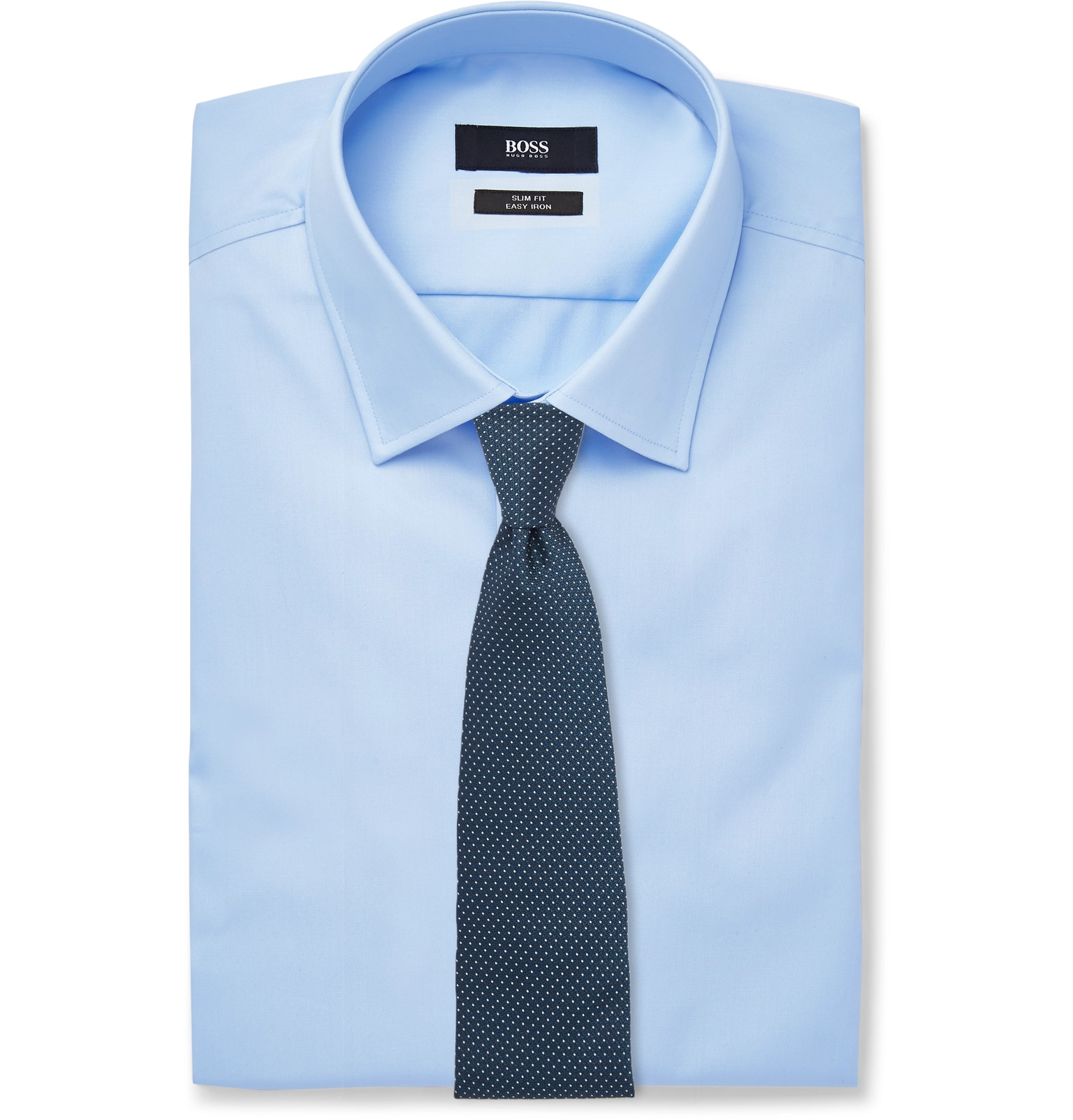 a46854d6c Hugo Boss - Blue Jenno Slim-Fit Cotton Oxford Shirt