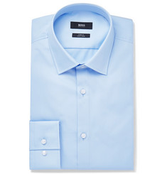 Hugo Boss - Blue Jenno Slim-Fit Cotton Oxford Shirt