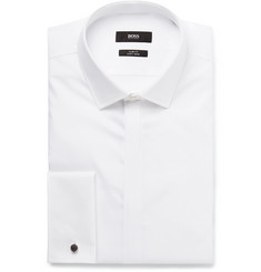 Hugo Boss - White Jilias Slim-Fit Double-Cuff Cotton Oxford Shirt