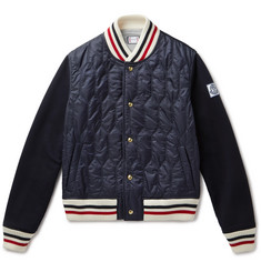Moncler Gamme Bleu - Shell and Wool-Blend Bomber Jacket
