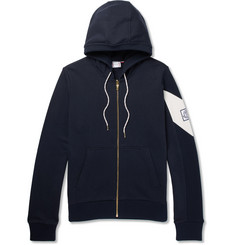 Moncler Gamme Bleu Fleece-Back Cotton-Jersey Zip-Up Hoodie