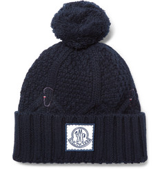 Moncler Gamme Bleu - Cable-Knit Virgin Wool Bobble Hat