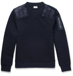 Moncler C Shell-Panelled Cotton-Jersey Sweatshirt