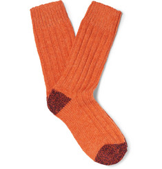 Etro - Ribbed Stretch Merino Wool-Blend Socks
