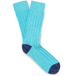 Etro Ribbed Stretch Merino Wool-Blend Socks