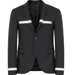 Neil Barrett Slim-Fit Striped Stretch Virgin Wool Blazer