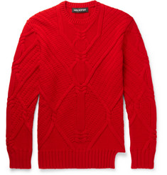 Neil Barrett - Cable-Knit Wool Sweater