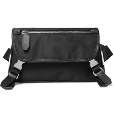 Neil Barrett Leather-Trimmed Shell Belt Bag
