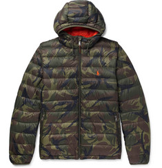 Polo Ralph Lauren Camouflage-Print Shell Hooded Down Jacket