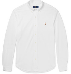 Polo Ralph Lauren Slim-Fit Button-Down Cotton-Piqué Shirt