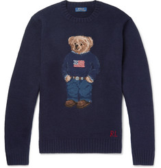 Polo Ralph Lauren Bear Intarsia Wool-Blend Sweater