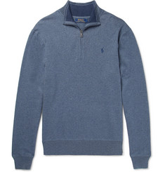 Polo Ralph Lauren Mélange Cotton Half-Zip Sweater