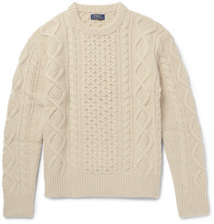 Polo Ralph Lauren - Aran-Knit Merino Wool-Blend Sweater