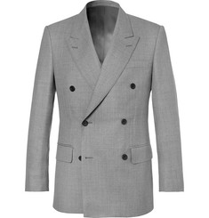 Kingsman Harry's Light-Grey Double-Breasted Wool Suit Jacket