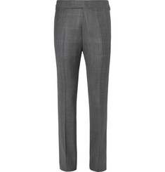 Kingsman Harry's Grey Prince Of Wales Checked Wool Suit Trousers