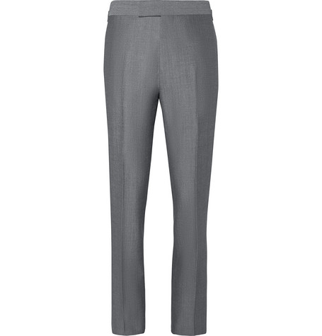 Kingsman Eggsy's Grey Wool And Mohair-blend Suit Trousers In Gray
