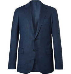 Kingsman Eggsy's Navy Unstructured Birdseye Wool Blazer