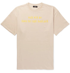 Raf Simons Walk With Me Oversized Printed Cotton-Jersey T-Shirt