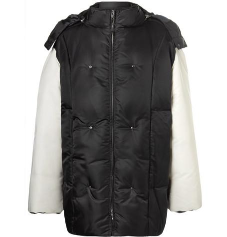 Raf Simons Oversized Shell Hooded Down Jacket In Black