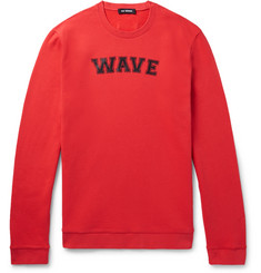 Raf Simons Printed Fleece-Back Cotton-Jersey Sweatshirt