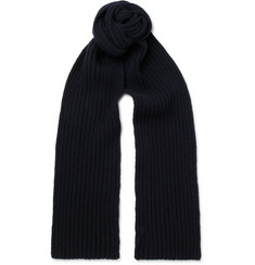 A.P.C. Ribbed Wool and Cashmere-Blend Scarf