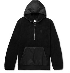 Nike NikeLab Essentials Shell-Panelled Fleece Half-Zip Hoodie
