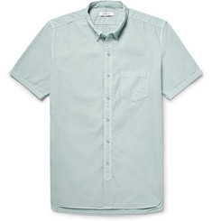 nonnative Dweller Button-Down Collar Overdyed Cotton-Poplin Shirt