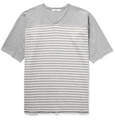 nonnative Trainer Striped Cotton-Jersey T-Shirt