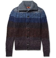Missoni Striped Mélange Wool-Blend Cardigan
