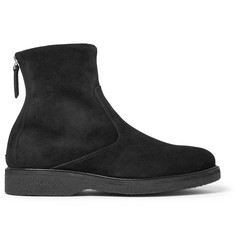 WANT LES ESSENTIELS Stevens Shearling-Lined Suede Boots
