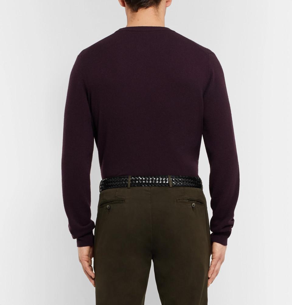 Anderson's 3.5cm Black Woven Leather Belt