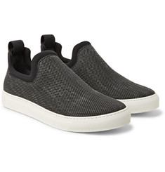 James Perse - Zuma Neoprene-Trimmed Canvas Slip-On Sneakers