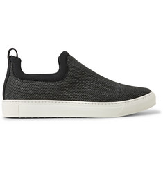 James Perse Zuma Neoprene-Trimmed Canvas Slip-On Sneakers