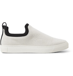 James Perse Zuma Neoprene-Trimmed Brushed-Canvas Slip-On Sneakers