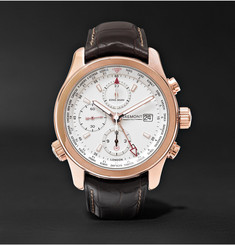 Kingsman - + Bremont ALT1-WT/WH World Timer Automatic Chronograph 43mm Rose Gold and Leather Watch