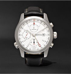Kingsman - + Bremont ALT1-WT/WH World Timer  Automatic Chronograph 43mm Stainless Steel and Leather Watch