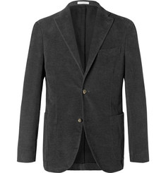 Boglioli Charcoal K-Jacket Slim-Fit Cotton-Moleskin Blazer