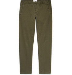 AMI Stretch-Cotton Gabardine Chinos