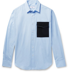 AMI - Contrast-Trimmed Cotton-Poplin Shirt