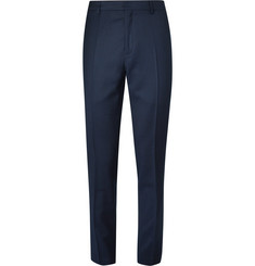 AMI Slim-Fit Wool-Flannel Trousers
