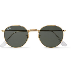 Ray-Ban - Round-Frame Gold-Tone Sunglasses