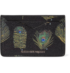 Alexander McQueen Printed Pebble-Grain Leather Cardholder