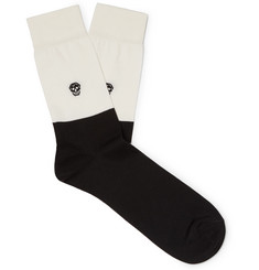 Alexander McQueen - Skull Intarsia Stretch Cotton-Blend Socks