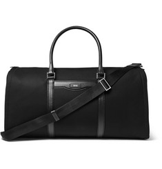 Hugo Boss Cross-Grain Leather-Trimmed Canvas Suit Carrier and Holdall